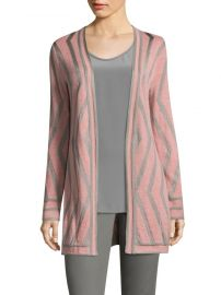 Matte Jacquard Knit Cardigan by St John Collection at Saks Fifth Avenue