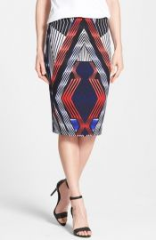 Matty M Print Pencil Skirt at Nordstrom