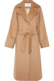 Max Mara   Belted camel hair coat at Net A Porter