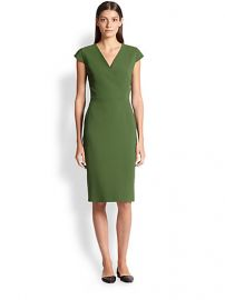 Max Mara - Capale Wool Surplice Dress at Saks Fifth Avenue