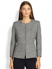 MaxMara - Zip-Front Peplum Jacket at Saks Fifth Avenue