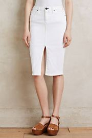 McGuire Marino Denim Pencil Skirt at Anthropologie