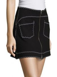 McQ Alexander McQueen - Contrast Stitch Mini Skirt at Saks Fifth Avenue