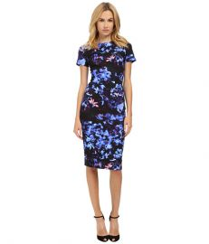 McQ Long Bodycon Dress Floral Print at 6pm