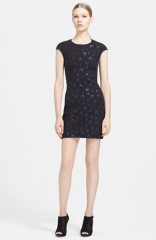 McQ by Alexander McQueen Print Stretch Cotton Dress at Nordstrom