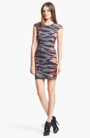 McQ by Alexander McQueen Tiger Print Dress at Nordstrom