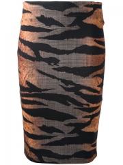 Mcq By Alexander Mcqueen Zebra Print Pencil Skirt - at Farfetch