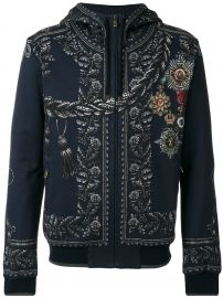 Medal Print Hoodie by Dolce Gabbana at Farfetch