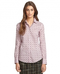 Medallion print shirt at Brooks Brothers