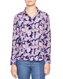 Meg Paisley Print Silk Shirt by Sandro at Bloomingdales