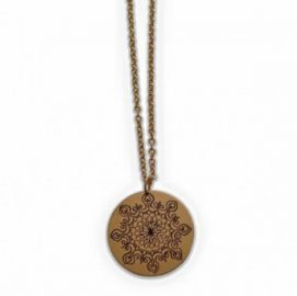 Megan Goldkamp Jewelry Abstract Engraved Design on Gold Filled Necklace at Etsy