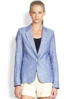 Mehira linen chambray blazer by Joie at Saks Fifth Avenue