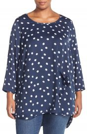 Melissa McCarthy Seven7 One-Pocket Dot Print Top at Nordstrom