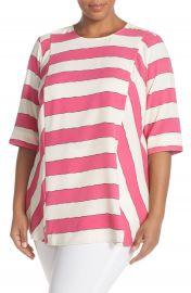 Melissa McCarthy Seven7 Stripe Blouse  Plus Size at Nordstrom
