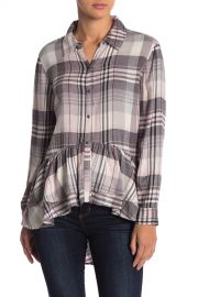 Melrose and Market   Plaid Print Hi-Lo Ruffle Hem Tunic   Nordstrom Rack at Nordstrom Rack