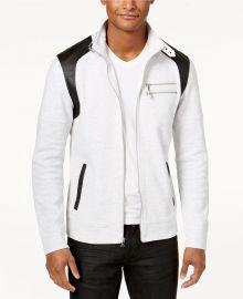 Men\'s Fire Knit Moto Jacket by INC International Concepts at Macys