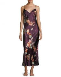 Meng Floral-Print Sleeveless Silk Nightgown at Neiman Marcus