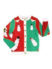 Mens Ugly Christmas Sweater Snowmen Dancing Cardigan at Amazon