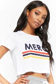 Merci Graphic Cropped Tee at Forever 21