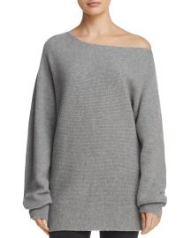 Merino Wool Off-the-Shoulder Oversized Sweater Theory at Bloomingdales