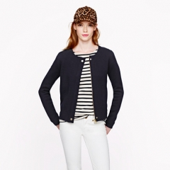 Merino Zippered Sweater Jacket at J. Crew