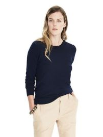 Merino sweater in navy at Banana Republic
