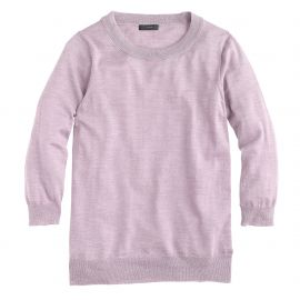 Merino wool Tippi sweater in Hthr Lavender at J. Crew