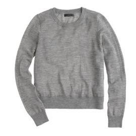 Merino wool crewneck sweater in Hthr Smoke at J. Crew