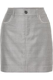 Merkel crystal-embellished checked silk and wool-blend mini skirt at Net A Porter