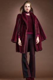 Merlot Mink Mid-Length Fur Cape & Coat by Michael Kors at Ml Furs