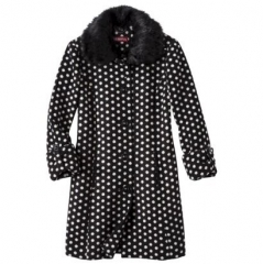 Merona polka dot coat at Target