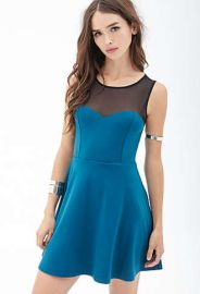 Mesh Trim Dress at Forever 21