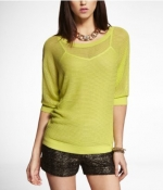 Mesh dolman sweater by Express at Express