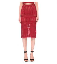 Mesh striped pencil skirt at Selfridges