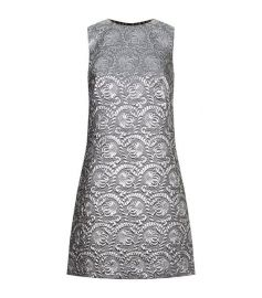 Metallic Matelasse Dress in Silver by Dolce & Gabbana at Farfetch