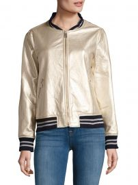 Metallic Bomber Jacket by Dolce Cabo at Saks Off 5th