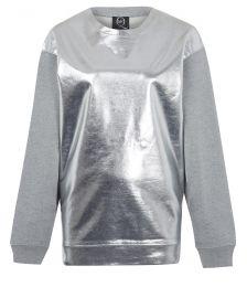 Metallic Front Sweatshirt by Alexander Mcqueen at Farfetch