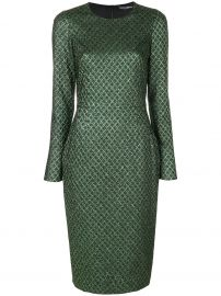 Metallic Jacquard Dress by Dolce Gabbana at Farfetch