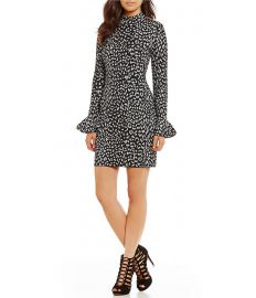 Metallic Leopard Jacquard Knit Sheath Dress by MICHAEL Michael Kors at Dillards