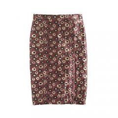 Metallic Marigold Print Skirt at J. Crew
