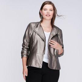 Metallic Moto Jacket by Lane Bryant at Lane Bryant