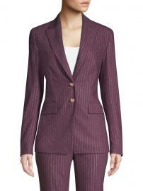Metallic Pinstripe Jacket at Saks Fifth Avenue