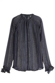 Metallic Stripe Blouse at Zadig & Voltaire