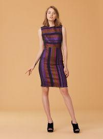 Metallic Stripe Sheath Dress at DvF