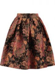 Metallic brocade skirt at The Outnet