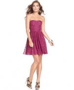 Metallic dot dress by Guess at Macys