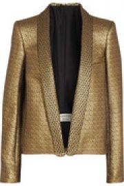 Metallic jacquard jacket at The Outnet