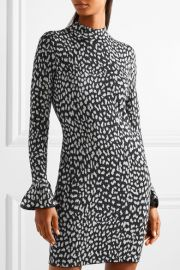 Metallic jacquard-knit mini dress by MICHAEL Michael Kors at Net A Porter