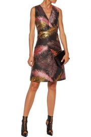 Metallic jacquard mini dress by Emilio Pucci at The Outnet