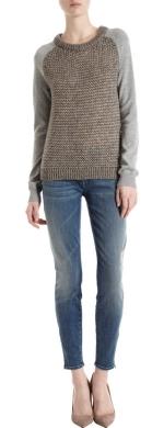 Metallic knit sweater at Barneys at Barneys